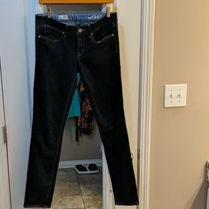 GAP always skinny dark denim size 6